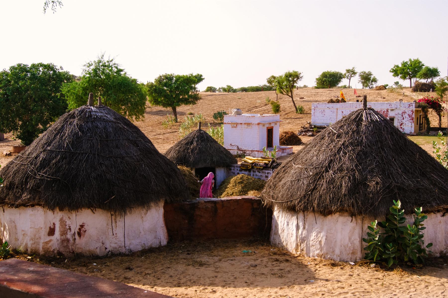 Conocí la casa de una familia en medio del desierto