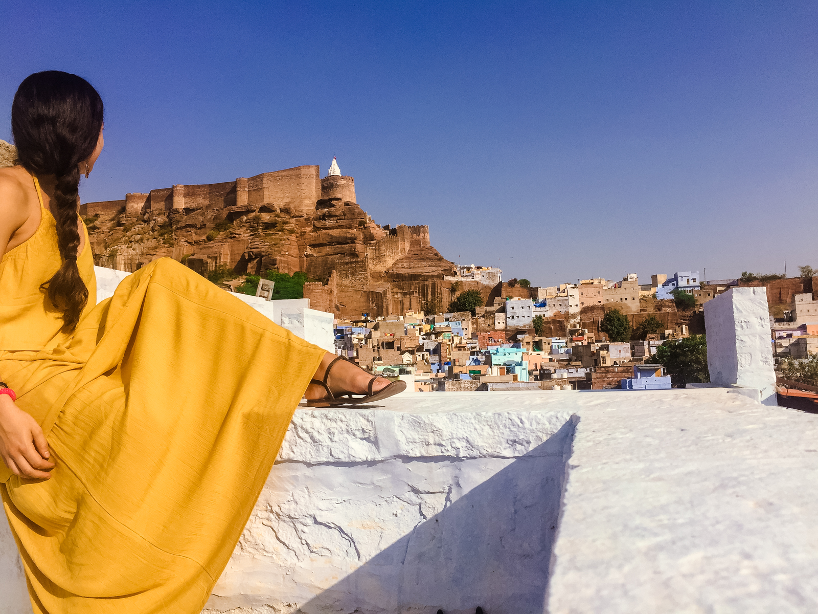 Impresionantes vistas del fuerte de Jodphur