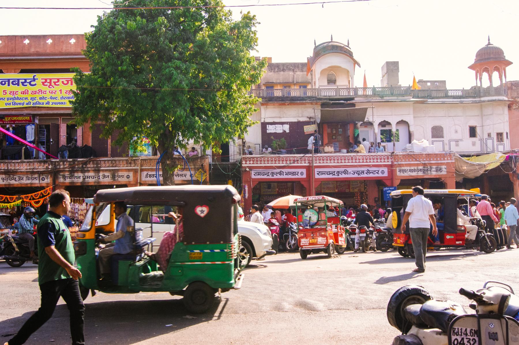 Las caóticas calles de Jaipur y sus mercados