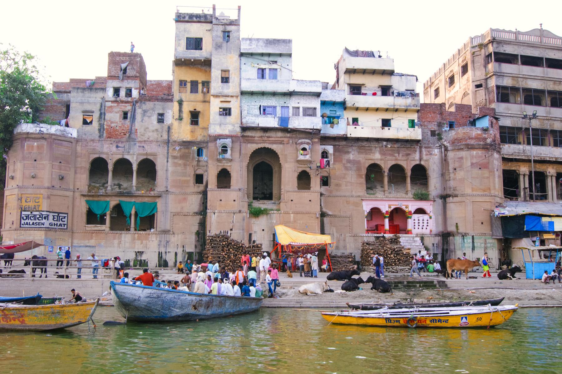 Una vista diferente desde el río Ganges