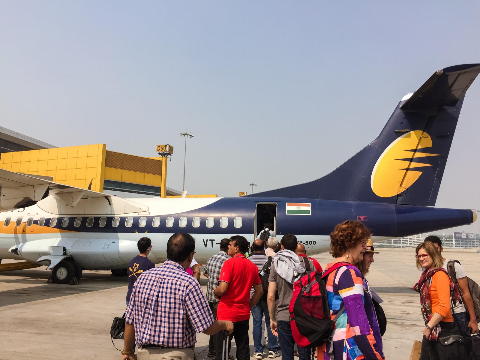 Volar es la forma más rápida para viajar en la India